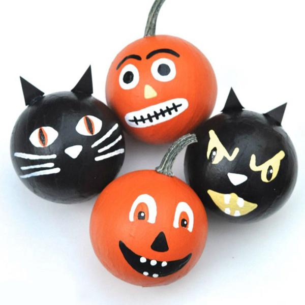 Halloween - gatto nero e zucca decorazione palle